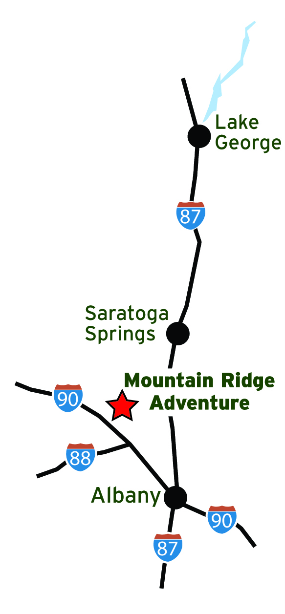 Location of Mountain Ridge Adventure